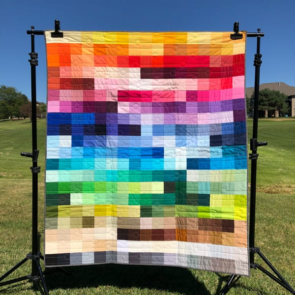 Kona Color Card Quilt: The Color Slide