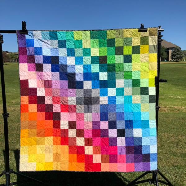 Kona Color Card Quilt v3: the Color Shift