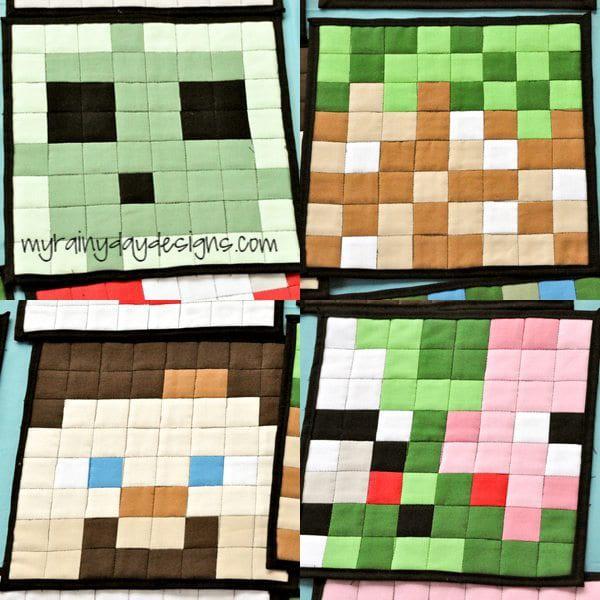 Minecraft Mug Rugs