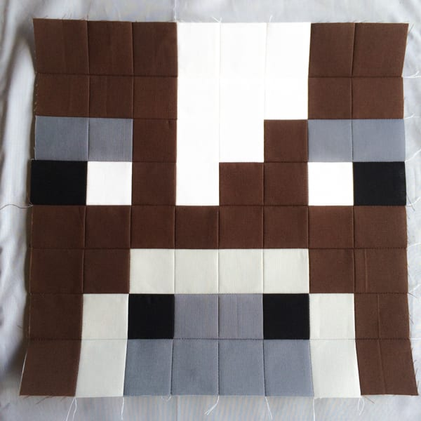 Minecraft Quilt Block Cow