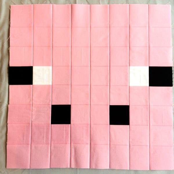 Minecraft Quilt Block Pig