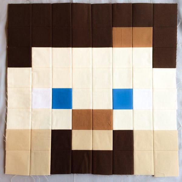Minecraft Quilt Block Steve