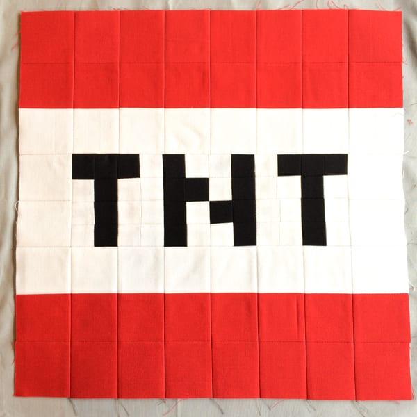 Minecraft Quilt Block TNT
