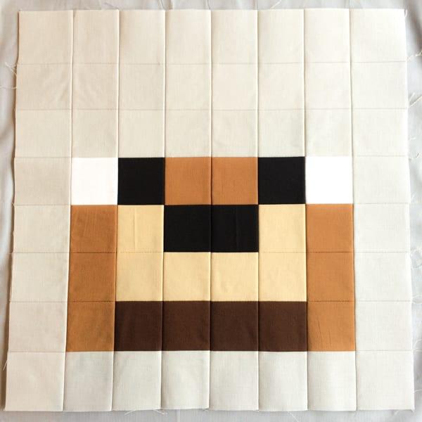 Minecraft Quilt Block Wolf