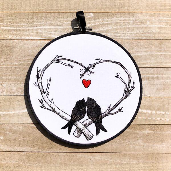 Poe-etic Love Birds