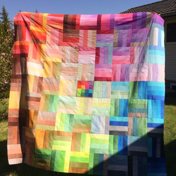 Ombreiled Quilt Top