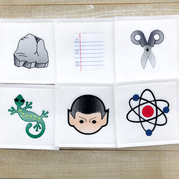 Big Bang Theory: Rock Paper Scissors Lizard Spock Coasters
