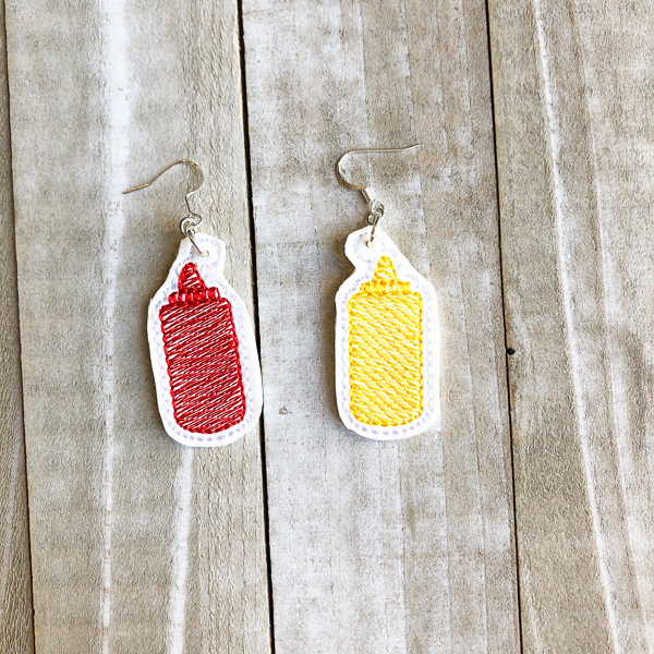 Ketchup & Mustard Earrings