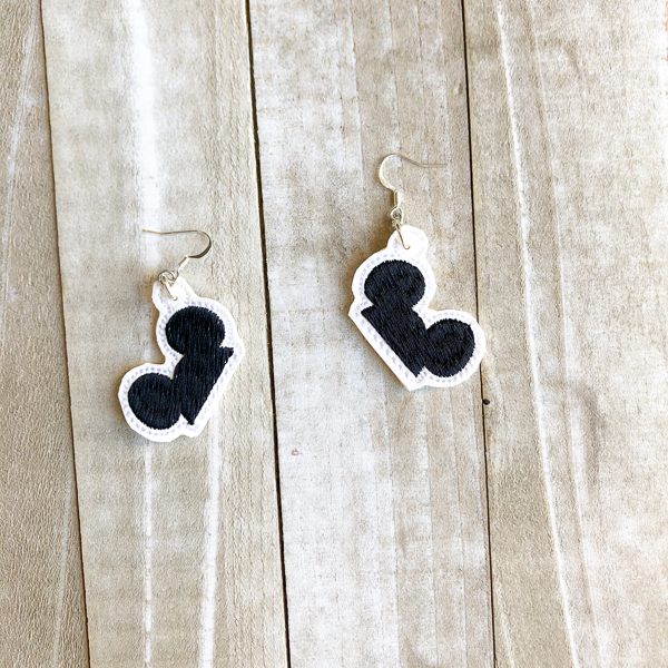 Mickey Ear Hat Earrings