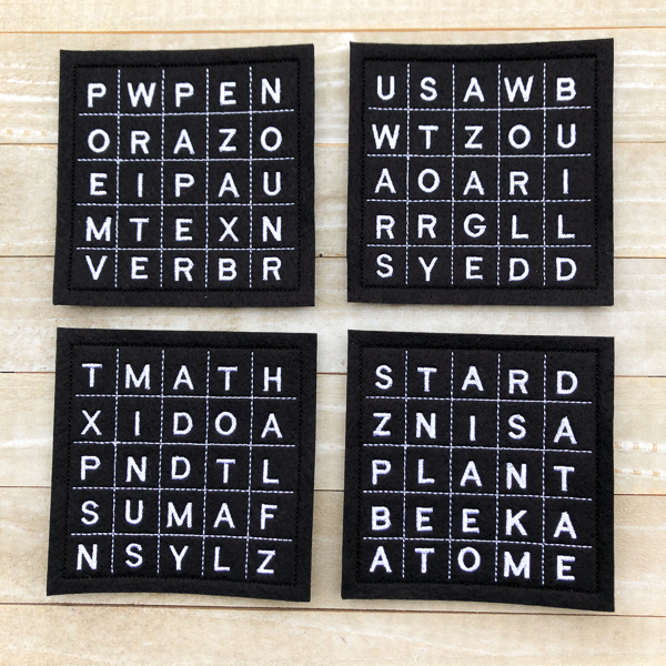 School Word Search Coasters