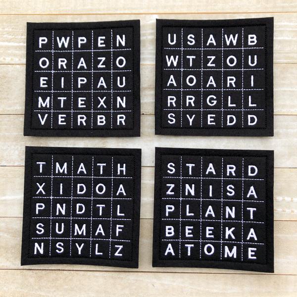 School Word Search Coasters
