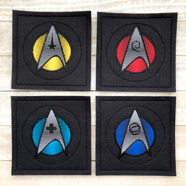 Star Trek Black Coasters