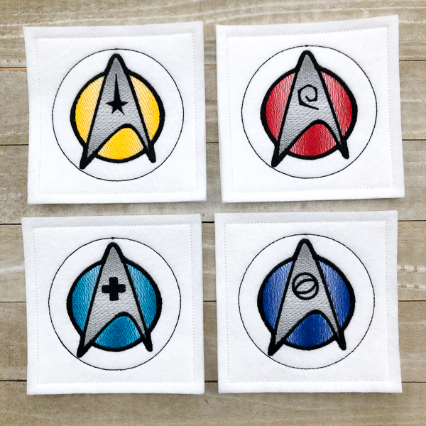 Star Trek White Coasters