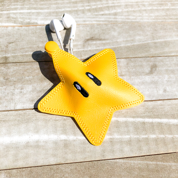 Super Mario Brothers Star Ear Bud Holder